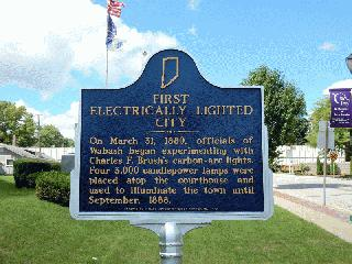 First Electrically Lighted City