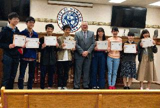 Japan Students with Mayor